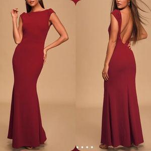 Lulus | Wine Red Mermaid Gown